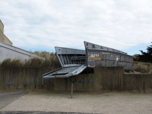 A Higgins boat at Utah Beach