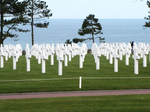 Omaha Beach and the English Channel
