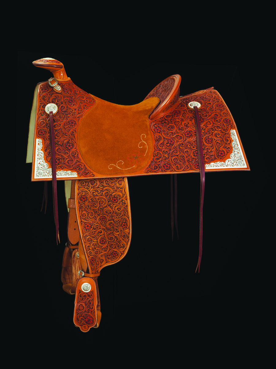 This year's saddle with Scott Hardy silver.