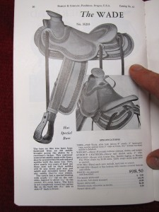 1942 Hamley Wade centerfire saddle.