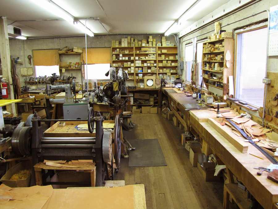 The workshop at Idaho Leather Company