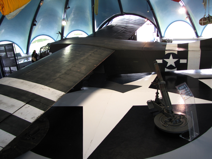 This glider in housed in a museum at St. Mere Eglise, the first village liberated by the US forces.