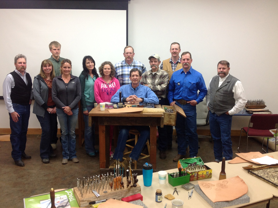 Floral design/carving class held in the brand new public library in Salmon, Idaho.